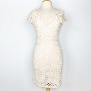Free People Gypsy crochet lace sheath dress S
